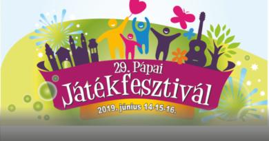29. Pápai Játékfesztivál