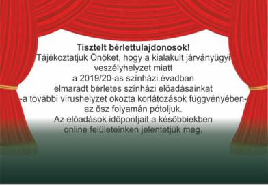Elmaradt bérletes színházi előadások